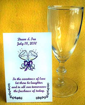 A Toast to the Wedding Anniversary & Wedding Seed Favors & Tea Packets