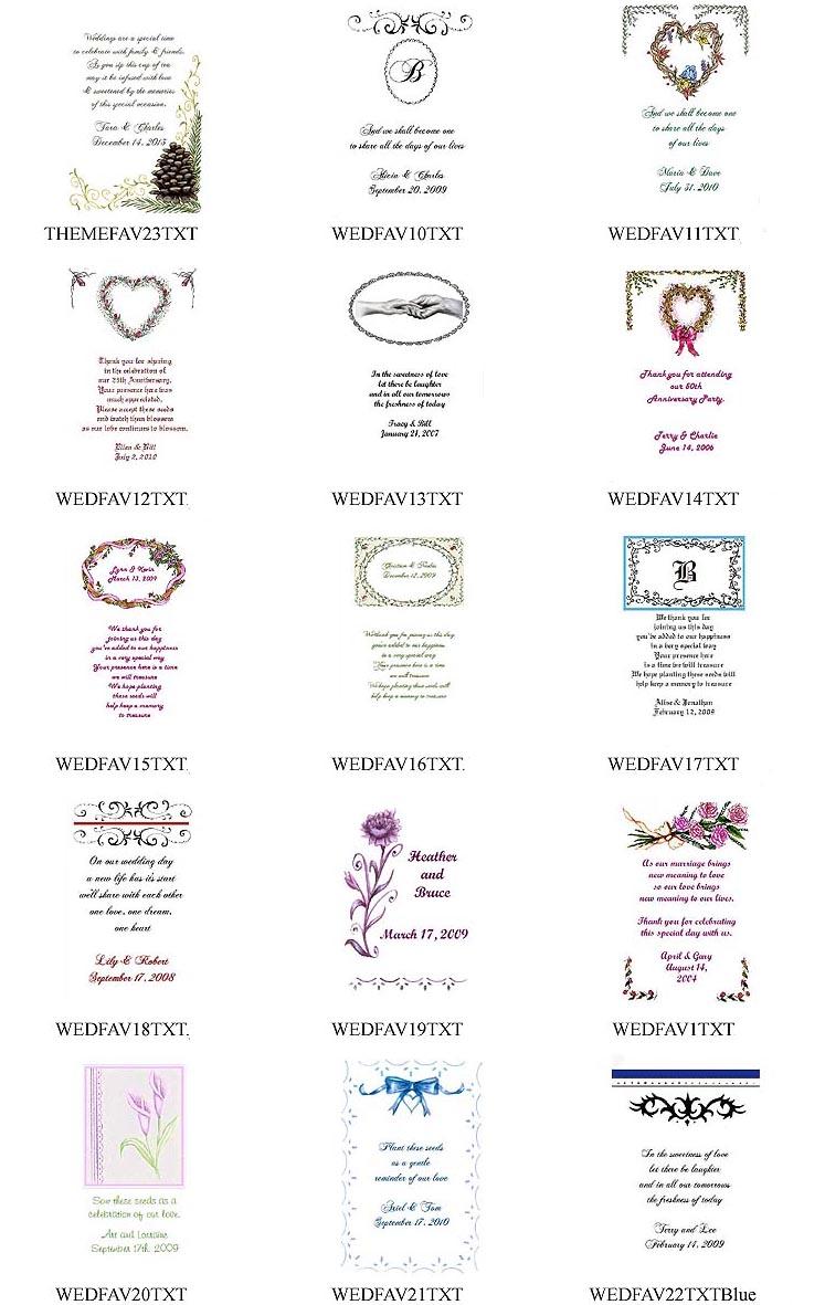 Wedding Tea Favor Packets