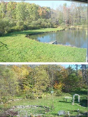 View of Catskill Mountain upstate NY artist Lorise studio